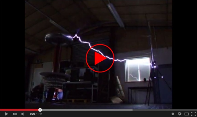 Video link to Tesla coil on YouTube