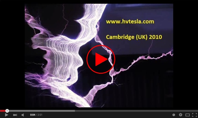 Video link to Tesla coil on YouTube 3