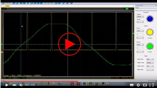 Video showing the correct SRSG waveform